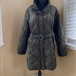H&M Brown 3/4 Lightweight Puffer Coat